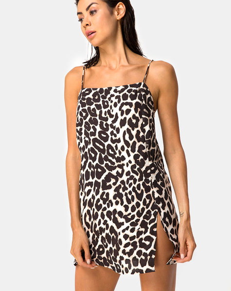 Datista Slip Dress in Oversize Jaguar by Motel