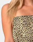 Datista Slip Dress in Rar Leopard Brown by Motel