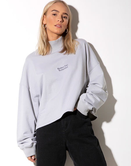 Roky Cropped Hoody in Dragon Rope White Placement