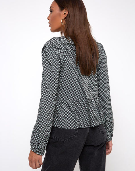 Diar Top in Check it Out Green by Motel