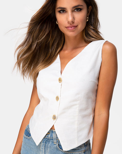 Divest Top in Ivory by Motel