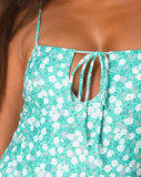 Dolty Swimsuit in Floral Filed Green by Motel