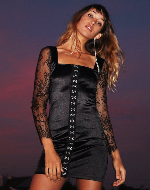 Dulipa Mini Dress in Black By Motel