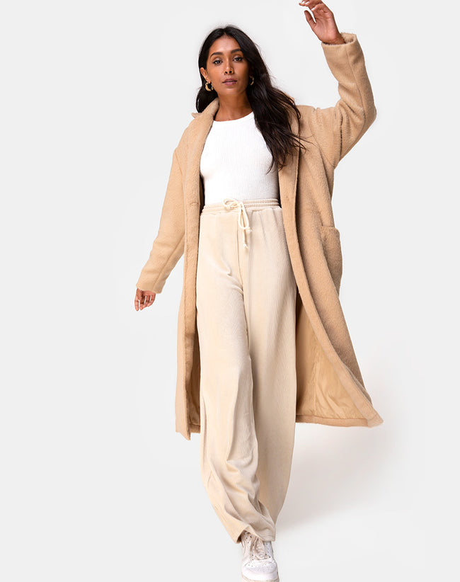 Duster Coat in Woven Tan by Motel
