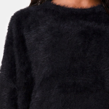 Edgen Jumper in Knit Black by Motel