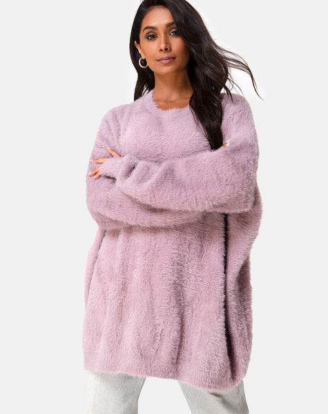 Edgen Jumper in Knit Mauve  by Motel
