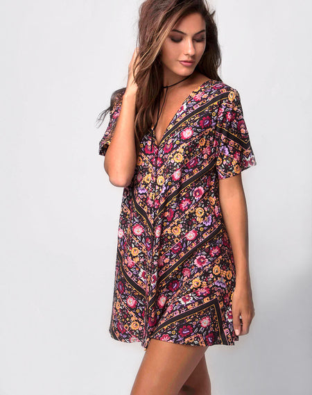 Gisti Dress in Scatter Rose by Motel