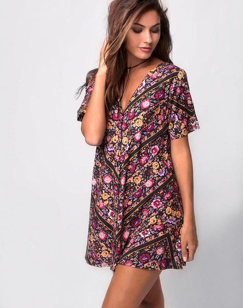 Crosena Swing Dress in Gypsy Rose by Motel