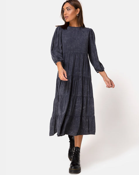 Magnolia Dress in Wash Out Black by Motel