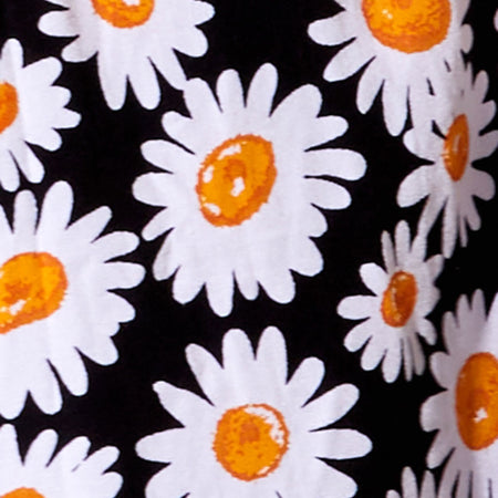 Elna Babydoll Dress in Daisy Love Black