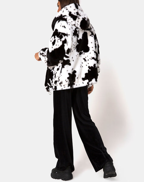 Emerson Jacket in Cow Hide Black & White by Motel