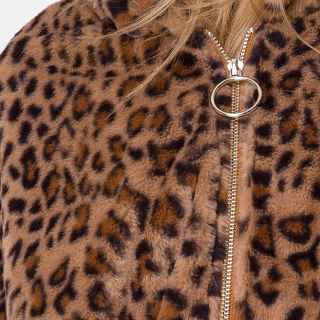 Emerson Jacket in Leopard Brown by Motel