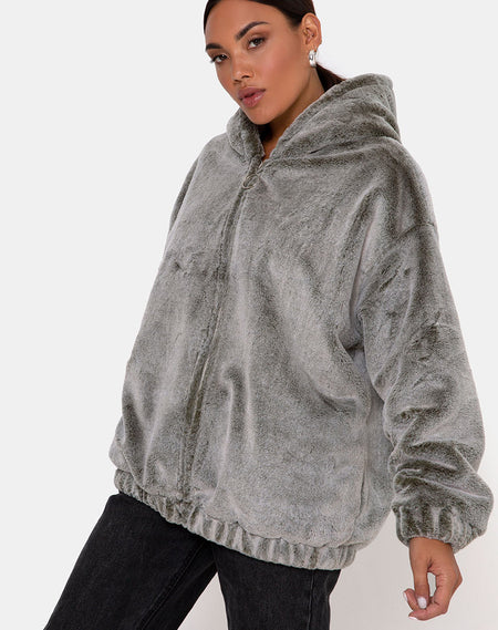 Hollack Hoody in Modern Day Romantics Grey by Motel