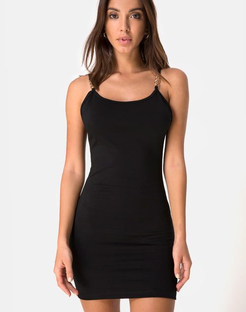 Esala Hardware Dress in Black by Motel