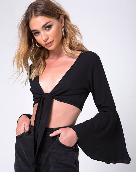 Espha Crop Top in Black by Motel