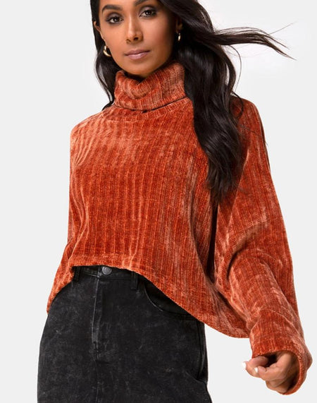 Edgen Jumper in Knitted Tan