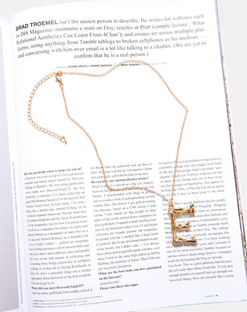 Necklace in Gold Letter E by Motel