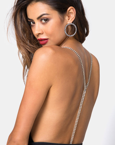 Nomi Off The Shoulder Bodice in Net Crystal Black by Motel