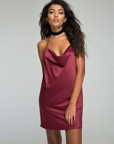 Festive Dress in Burgundy by Motel