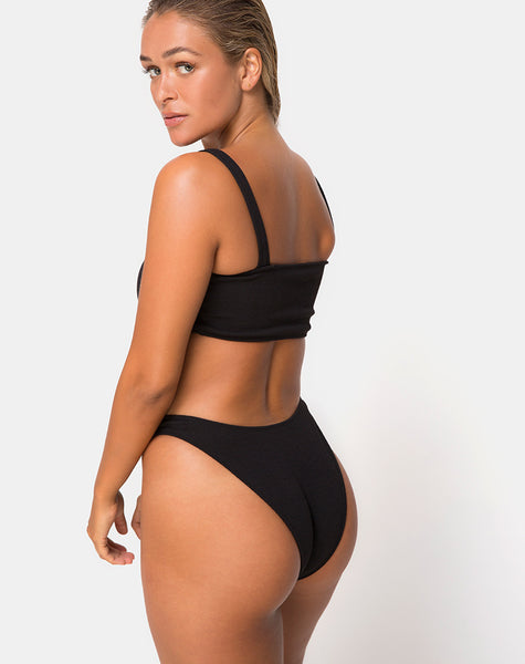 Fien Bikini Bottom in Black by Motel