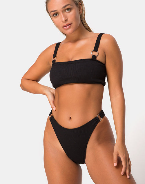 Fien Bikini Top in Black by Motel