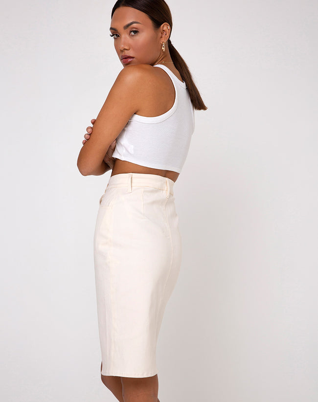 Flasa Midi Skirt in Ecru