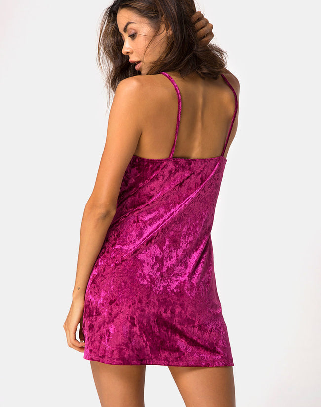 Furia Slip Dress in Burgundy Crush by Motel