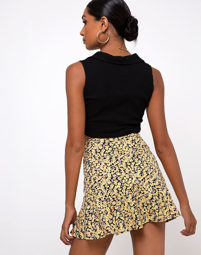 Gaelle Skirt in Mini Bloom Yellow by Motel