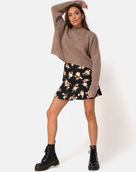 Gaelle Mini Skirt in Peach Rose by Motel
