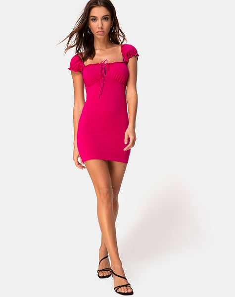 Gaina Mini Dress in Cherry Jersey by Motel