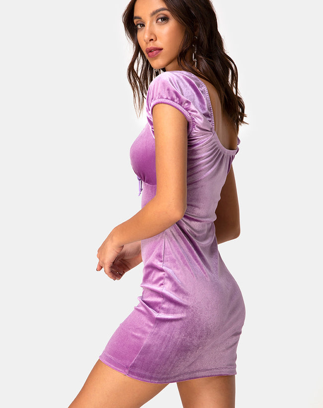 Gala Dress in Velvet Lilac by Motel