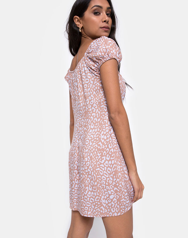 Gaval Mini Dress in Leopard Spot by Motel