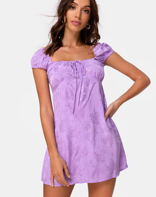 Gaval Dress in Satin Rose Lilac by Motel