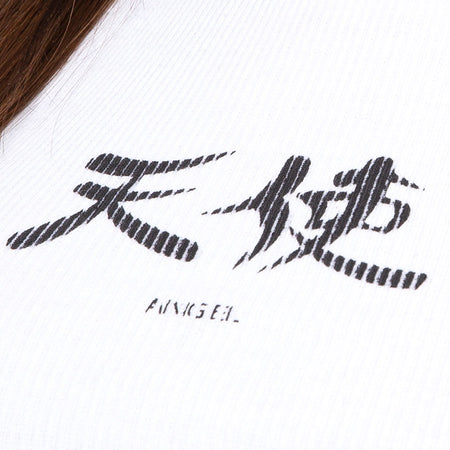 Givas Crop Top in White Japanese Angel