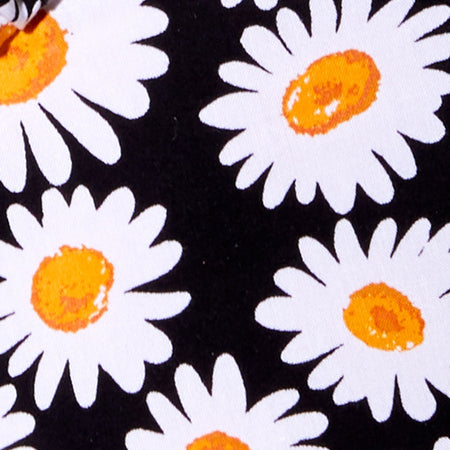Gladis Crop Top in Daisy Love Black