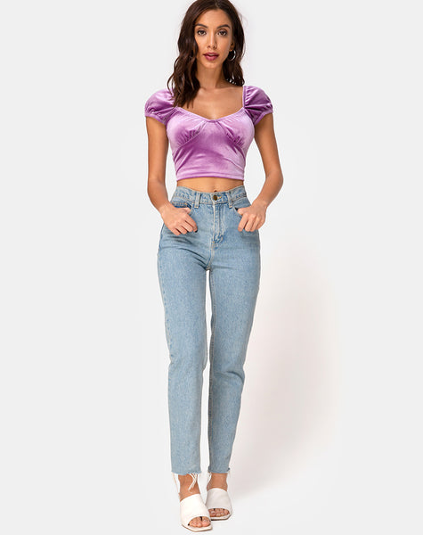 Glaty Top in Velvet Lilac by Motel