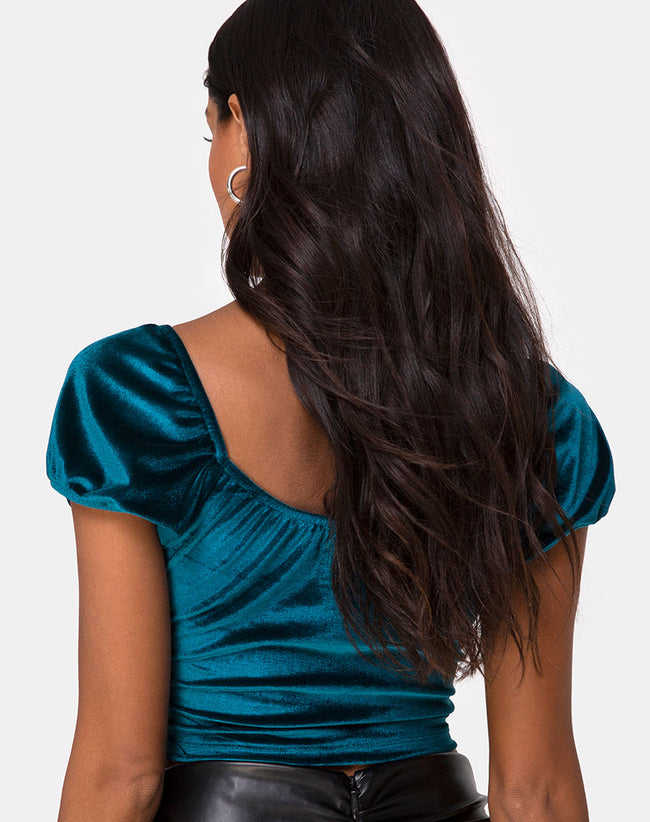 Glaty Top in Velvet Teal by Motel