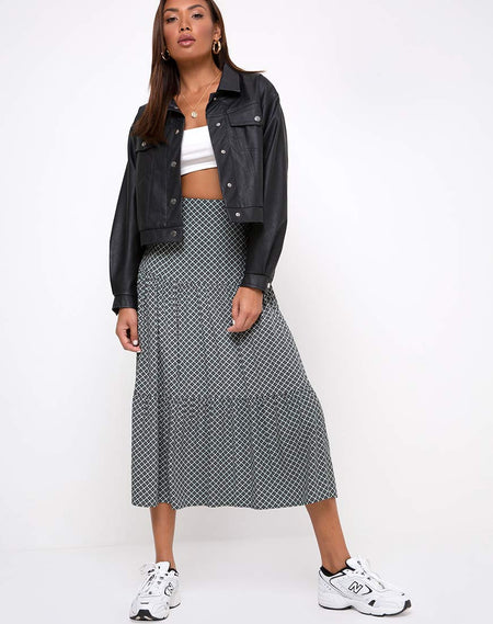 Sayan Skirt in Check It Out Black by Motel
