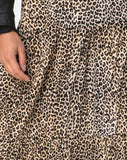 Gleas Skirt in Rar Leopard Brown by Motel