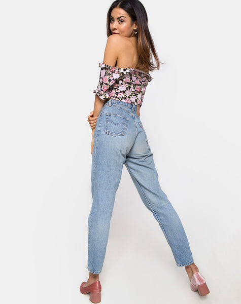 Glior Crop Top in Bloom Floral by Motel