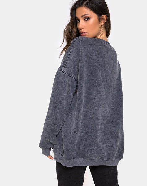 Glo Sweatshirt in Stone Wash Angelo by Motel