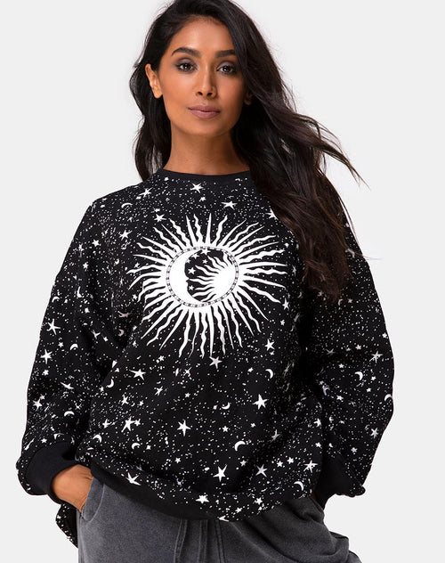 Shine Sweatshirt in Black Cosmos by Motel