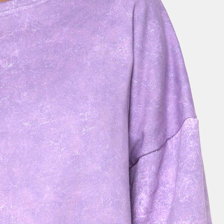 Glo Sweatshirt in Purple Acid Wash