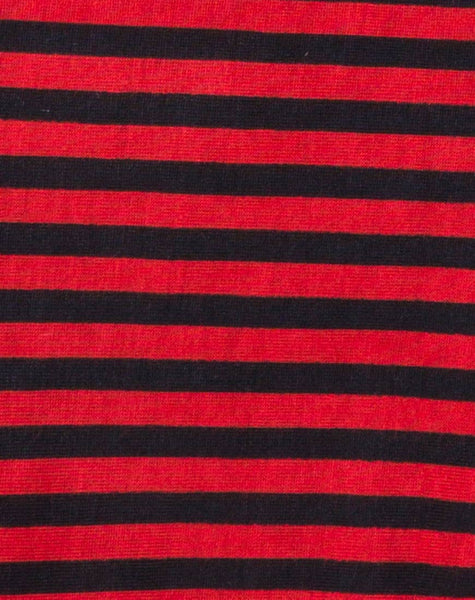 Goce Crop Top in Mini Stripe Red and Black by Motel