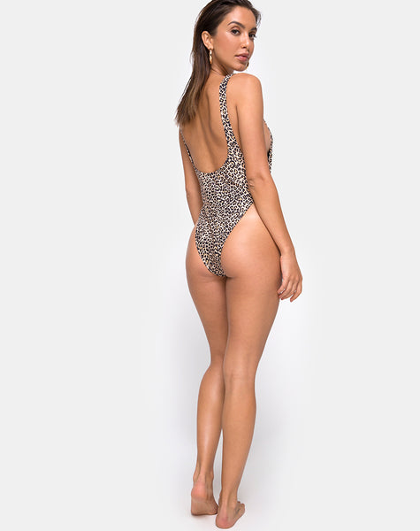 Goddess Swimsuit in Rar Leopard by Motel