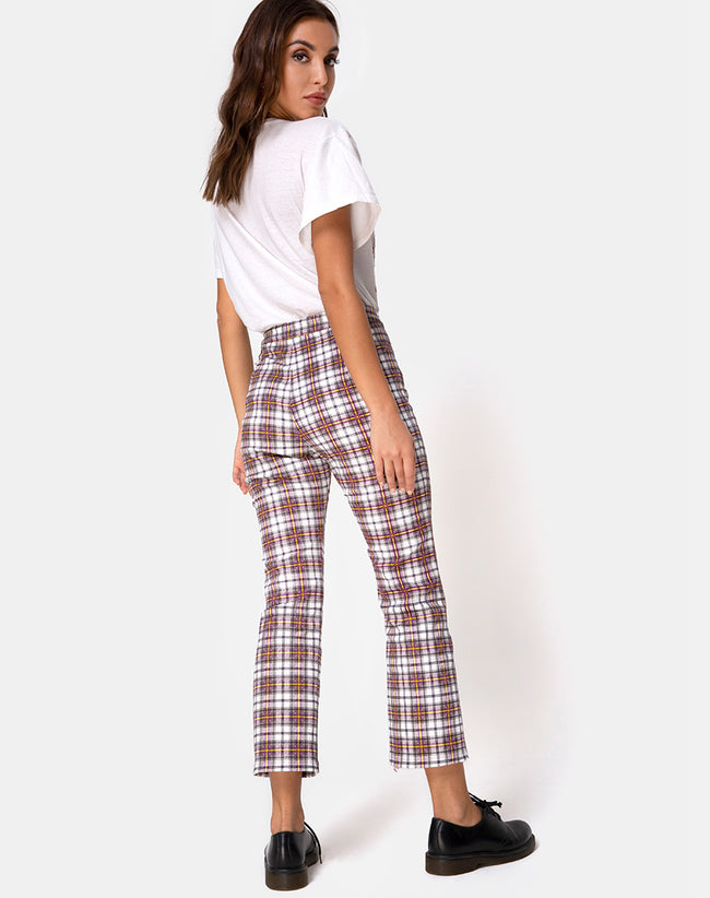 Grava Trouser in Grunge Check Purple by Motel