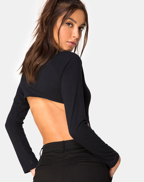 Grino Bodice in Plain Black by Motel