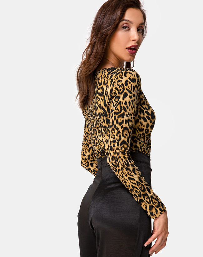 Guanelle Top in Leopard by Motel