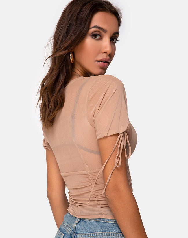 Guinevre Top in Tan Net by Motel