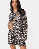 Lotsun Dress in Oversize Jaguar By Motel